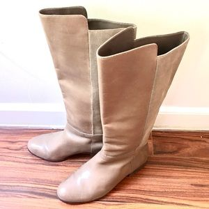 Kate Spade SATURDAY Taupe suede leather tall boot